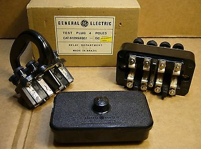General Electric PK-2 4-Pole Test Block and Test Plug 6122120G3 & 6129533G1 GE