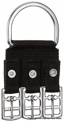 Tough-1 3 Buckle Nylon Western Girth Converter Western English Horse Tack