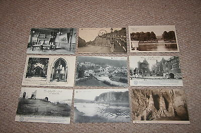 A collection of Belgium postcards from the 1900s.