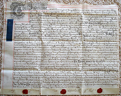 1740 Indenture On Vellum. Sale Of Property In Henley On Thames, England
