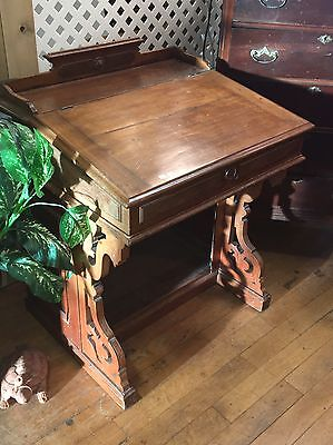 RARE Antique Handcrafted Ship Captain's Davenport Desk Mid 19th Century