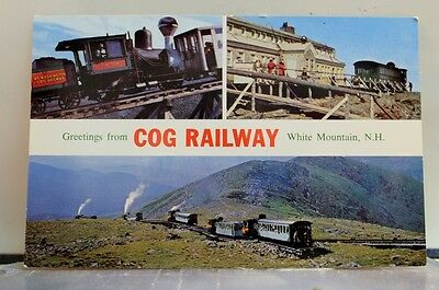 New Hampshire NH White Mountains Cog Railway Postcard Old Vintage Card View Post