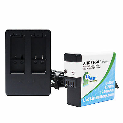 Battery + Charger for GoPro HERO5 Black