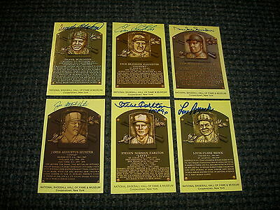 Enos Slaughter Signed Autograph Original Hall Of Fame Yellow Postcard W/COA