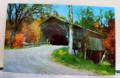 New Hampshire NH Sandwich Durgin Covered Bridge Postcard Old Vintage Card View