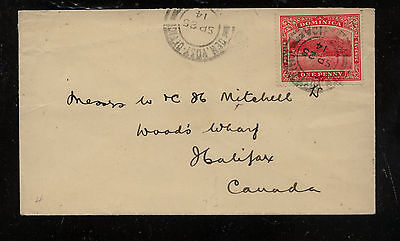 Dominica   cover   to    Canada   1914            MM1101
