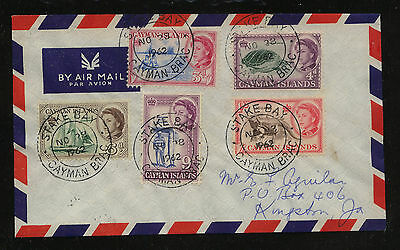 Cayman Island, Stake Bay  cover to  Jamaica  1962        MM1101