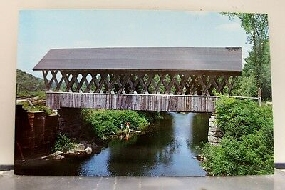 New Hampshire NH Andover Covered Bridge Postcard Old Vintage Card View Standard