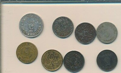 Germany -5 Pf. -  Lot Of 8 Items - Early Lot