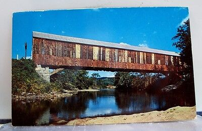 New Hampshire NH Plymouth Smith Covered Bridge Postcard Old Vintage Card View PC