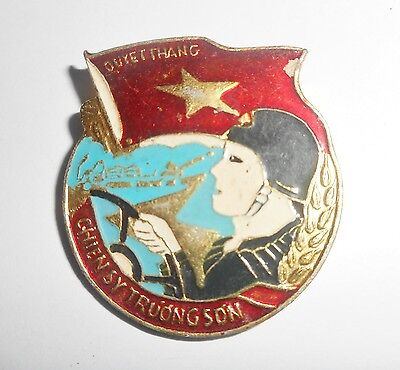 TRUONG SON SOLDIERS - RARE VIET CONG BADGE - Ho Chi Minh Trail, Vietnam War 1538