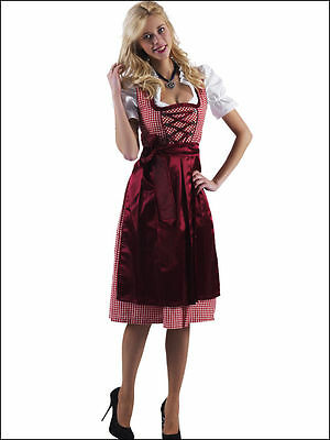 Bavarian,German,Trachten,Festival,Oktoberfest,Dirndl Dress,3-pc.Sz.20,Reds/Wine