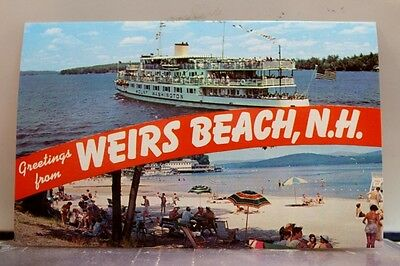 New Hampshire NH Weirs Beach Postcard Old Vintage Card View Standard Souvenir PC