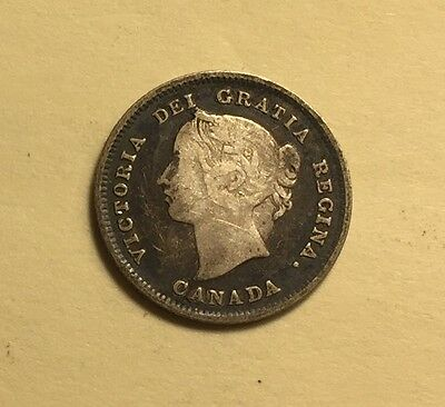 Canada - Queen Victoria - 5 Cents - 1891 - KM-2 - Very Fine Silver Coin