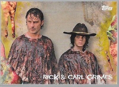 Topps Walking Dead Survival Box Infected Rick Carl Grimes /99 47