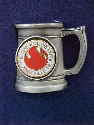NIB 1982 Knoxville Worlds Fair Miniature Pewter Tankard Stein Souvenir