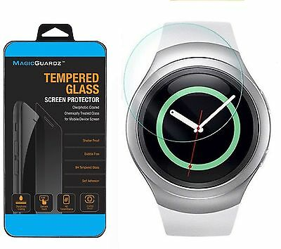 1x Tempered Glass Screen Protector For Samsung Gear S2 / S2 Classic Smart Watch