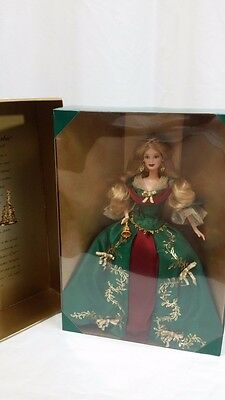 Barbie Holiday Treasures Doll 2000 Official Collectors Club Green Gown Le Nrfb