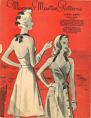 1940s Marian Martin Catalog Ebook on CD Summer 1944 Pattern Book Picture Pack