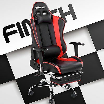 Merax High Back PU Leather Executive Racing Gaming Office Chair Computer Desk