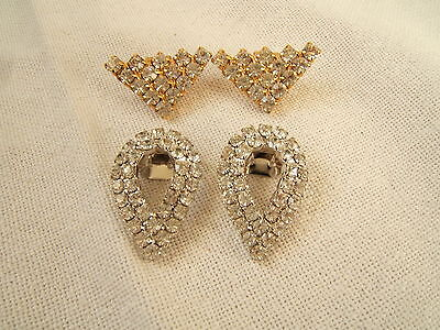 2 Pair Of Rhinestone Shoe Clips