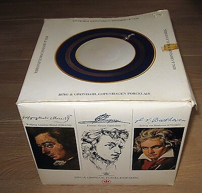 Bing And Grondahl Famous Artists Series Cup Saucer and Plate Boxed