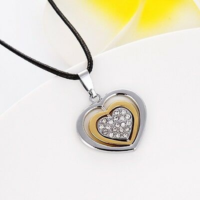 """Hot Mens/Womens Stainless Steel Heart Pendant Necklace Lover Jewelry 20"""" Chain"""