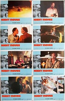 NIGHT MOVES great LOBBY CARD SET OF 8 original 11x14 from 1975