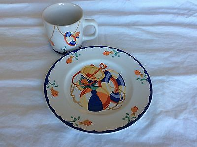 Tiffany & Co. Seashore 2 Piece Child's Set: Cup and Saucer in Great Condition