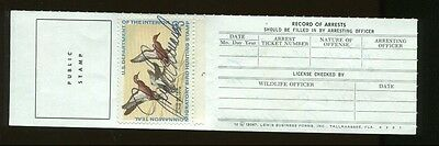 FLORIDA 1971 Resident State Hunting/ Fishing License RW38 Duck Stamp - 323