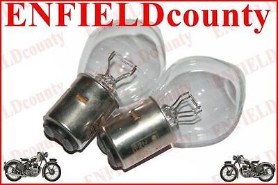 NEW 2 UNITS 6V-35/35W MOTORCYCLE SCOOTER HEADLAMP BULBS WITHOUT SHIELD Ba20d