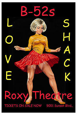 B-52's at the Roxy on the Sunset Strip Los Angeles Concert Poster 2007