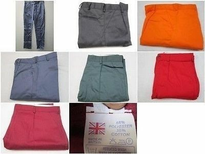 WHOLESALE JOBLOT WORKWEAR WORK TROUSERS Quality Mens British Made Heavy Duty x 5