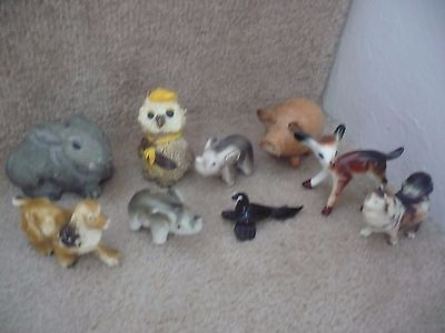A Collection Of Animals Ceramic Glass Resin And Wood A Great Set