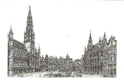 Brussels - View - Unposted Postcard
