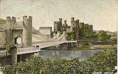 Conway Castle, Posted Postcard. 1905