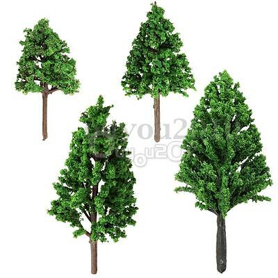 20pcs New Model Pine Trees Deep Green For HO OO Scale Layout 68mm