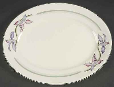 "Booths ORCHIDS 12"" Oval Serving Platter 8272021"