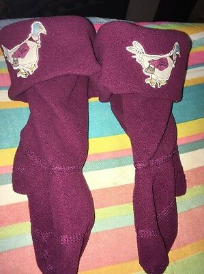 Children's Little Joules Maroon Wellington Boots Liners Size 8-10 Brand New