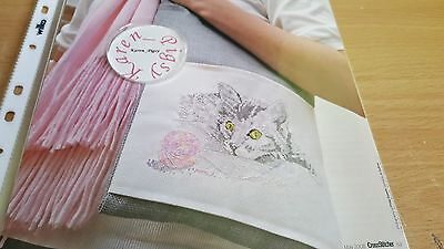 CROSS STITCH CHART play time cat chart cat with ball of wool scene chart only
