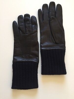 Luxury Men's Navy Blue Gloves Maiden Fabre Size 7.5