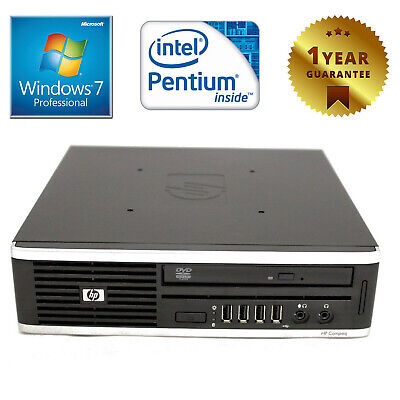 Pc Computer Mini Desktop Usdt Ricondizionato Hp Dual Core 4Gb 160Gb Windows 7