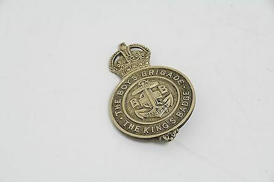 """The Boys Brigade """"the Kings Badge"""" In White Metal  (Ms8)"""