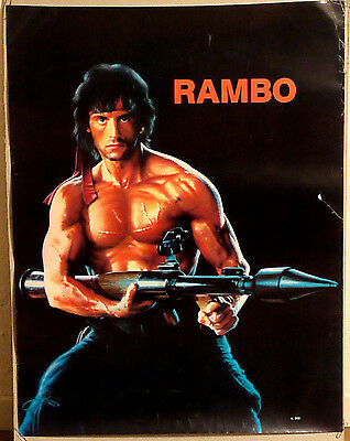 (Prl) Rambo Sylvester Stallone N.562 Vintage Affiche Print Arte Poster Art