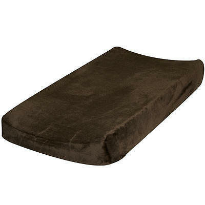 Go Mama Go Luxurious Changing Pad Cover - Minky Chocolate Brown