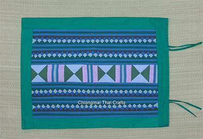 Hmong Tribe Embroidery Hand Quilt Pillow Cover Cushion Green (#75)