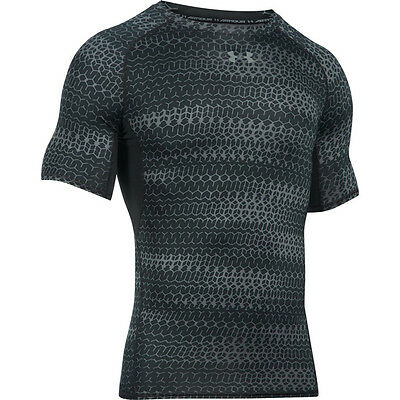 Under Armour Heatgear Compression Printed Short Sleeve Shirt black  1257477-007