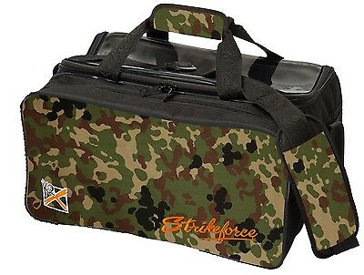 KR SPECIAL LIMITED EDITION  2 Ball Camouflage Tote Bowling Bag with Shoe Pocket