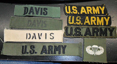 Early & theater made Army & name tapes +