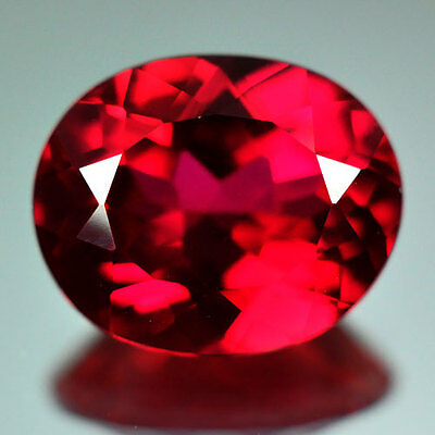 5.65cts.AWESOME BLOOD RED RUBY OVAL LOOSE GEM